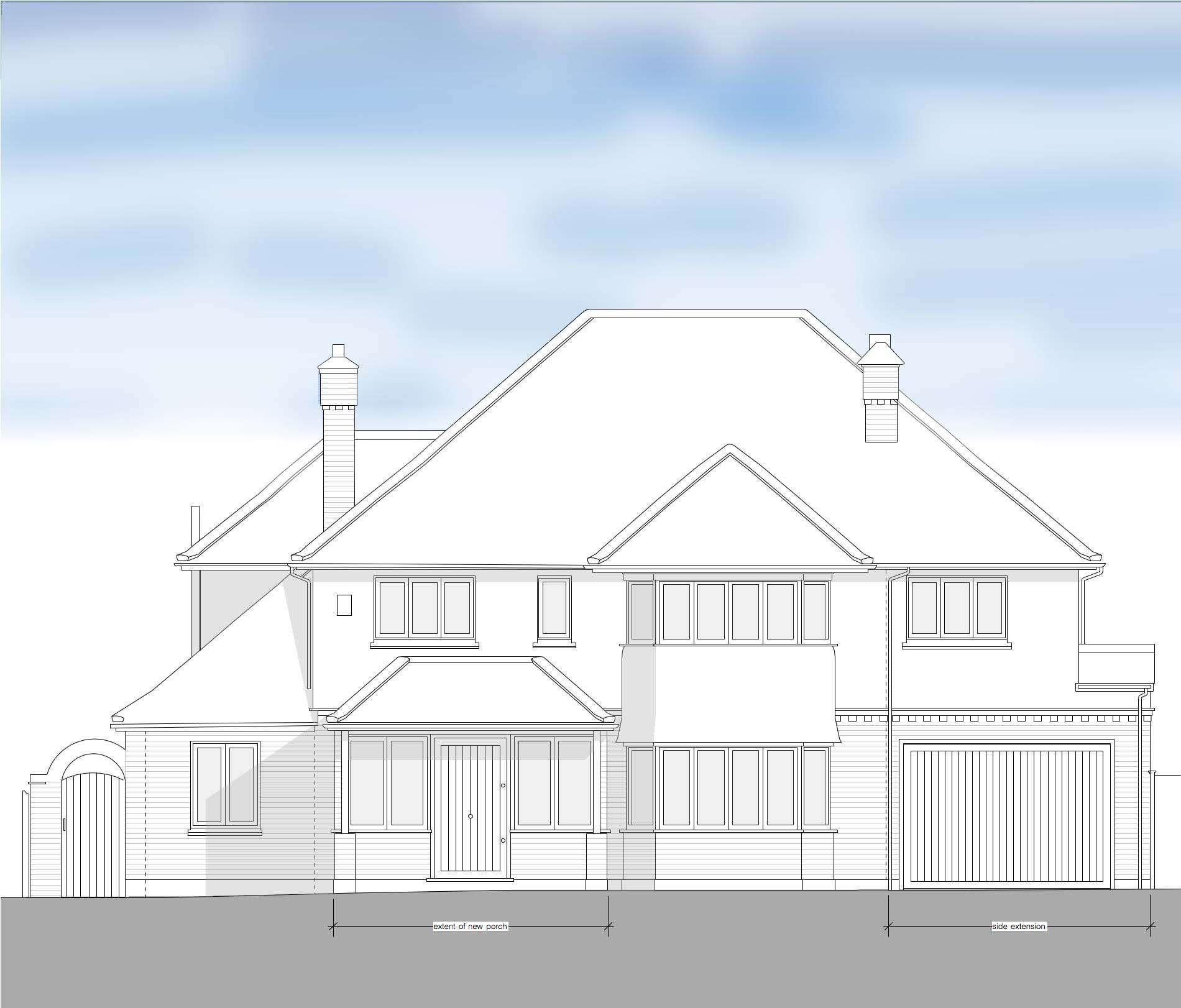 Sevenoaks_porch_double story_extension_front